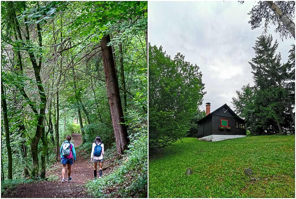 Quando estávamos voltando de nossas trilhas em Graz, passamos por cabanas adoráveis e outras belas vistas da região.