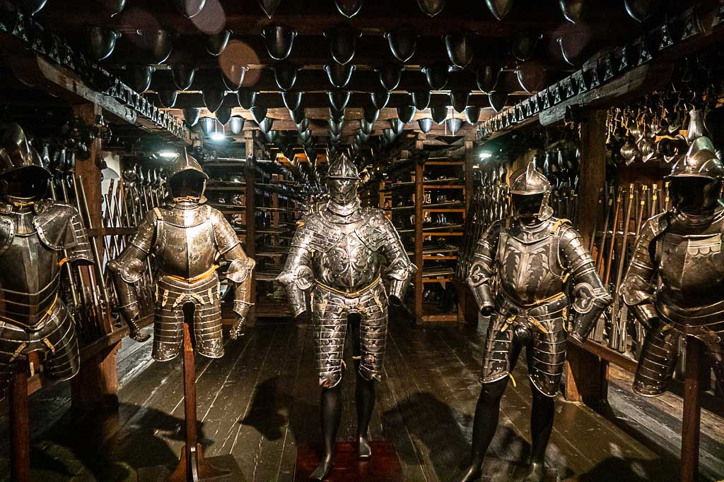 The Landeszeughaus or Styrian Armory Museum in Graz has an arsenal of armors and weapons from the 15th to the 18th century.