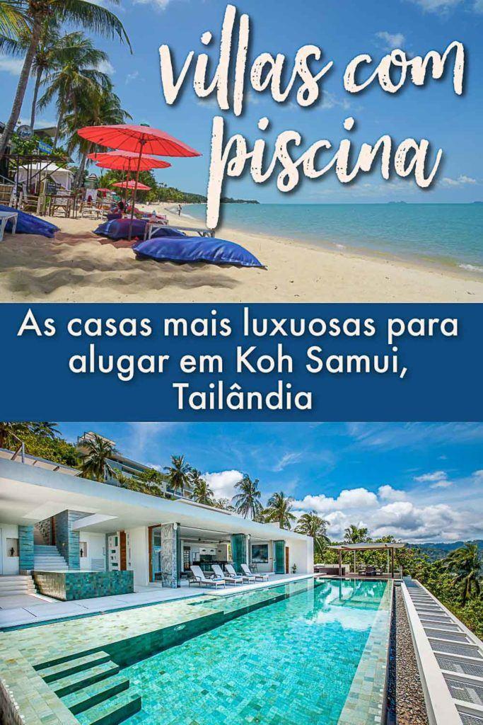 Apaixone-se por algumas das melhores e mais luxuosas villas em Koh Samui, na Tailândia. Não importa se você está viajando com a família, amigos ou em casal, aqui você vai encontrar as melhores casas com piscina em Koh Samui para suas próximas férias. Listamos todas as instalações, locações, as melhores praias e como fazer a sua reserva. #KohSamui #Tailandia #viagemdeluxo #kohsamuihotel