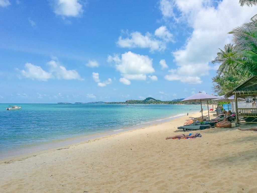 Maenam Beach in Koh Samui, one of the best beaches on the island to relax.