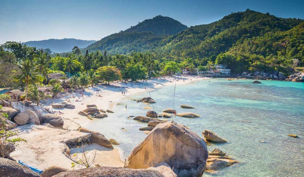 Silver beach or Crystal Beach at Koh Samui Island in Thailand. One of the most beautiful beaches in Koh Samui.
