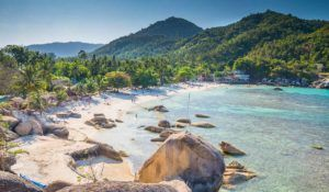 Silver beach, Crystal Beach beach view at Koh Samui Island Thailand