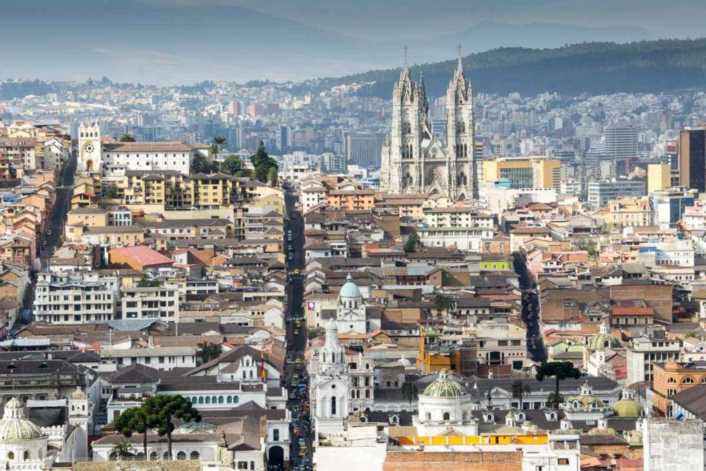 Quito in Peru is the second highest capital city in the world and a UNESCO World Heritage Site.