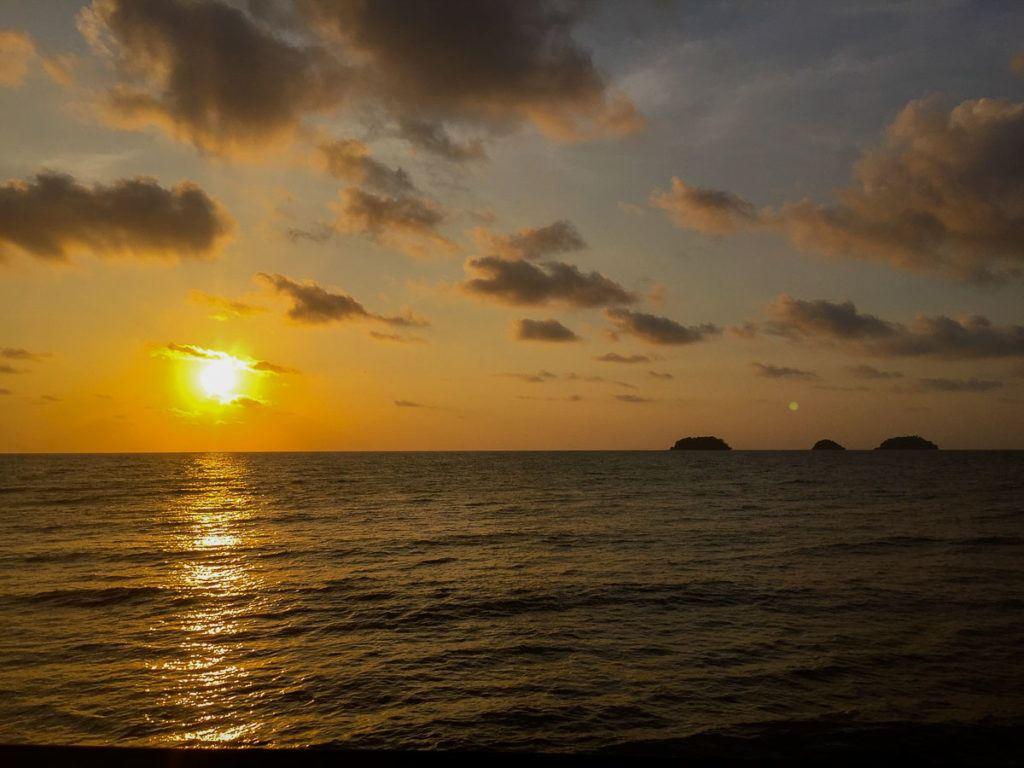 Sunset at Koh Chang Beach, Thailand.