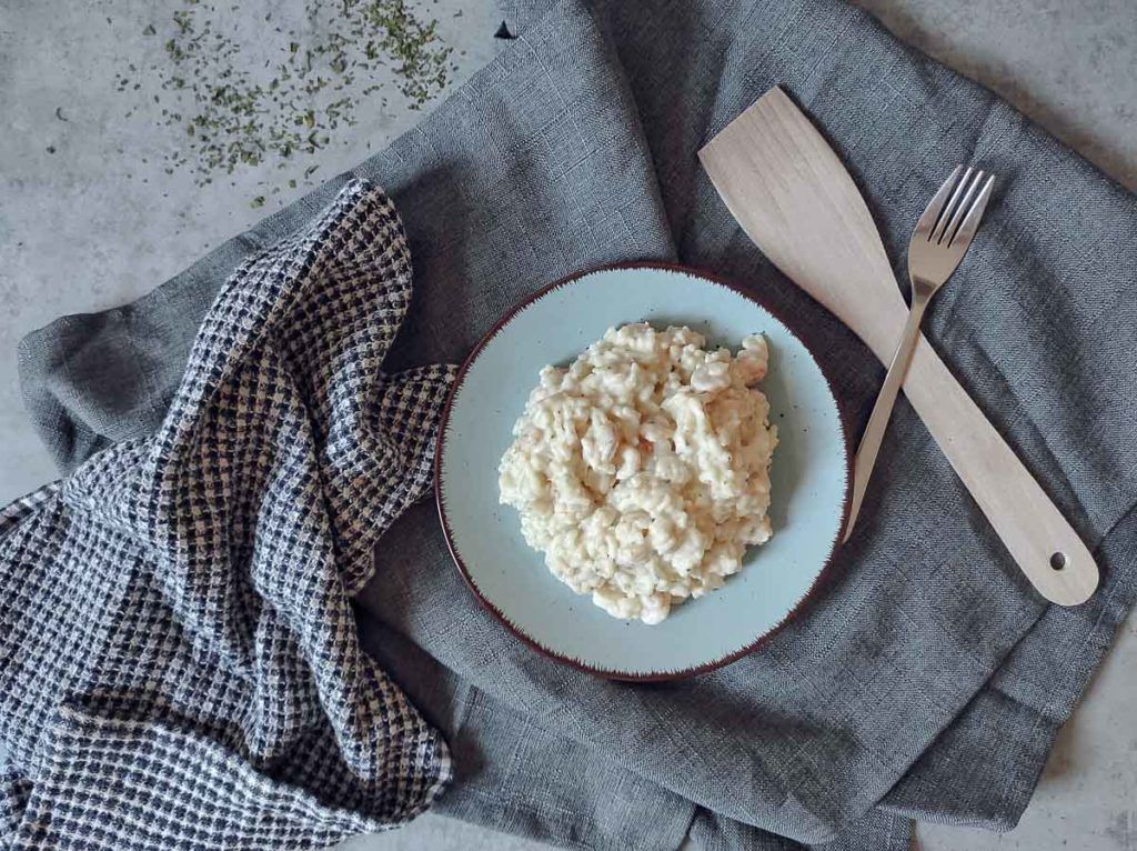 A plate of risotto, traditional food in Croatia, especially on Pag Island.
