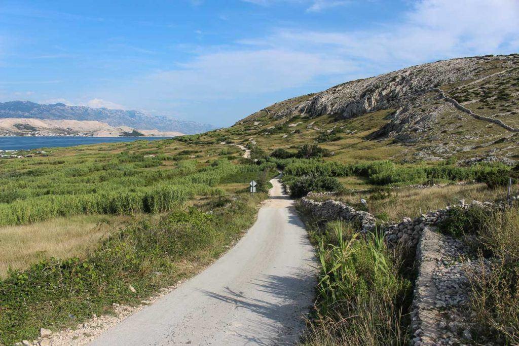 Photo of a small road on a Croatian Island.