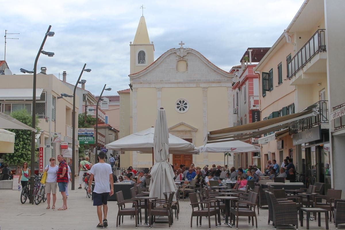 The old town of Novalja on Pag Island in Croatia. The island is famous for its beaches, parties e music festivals.